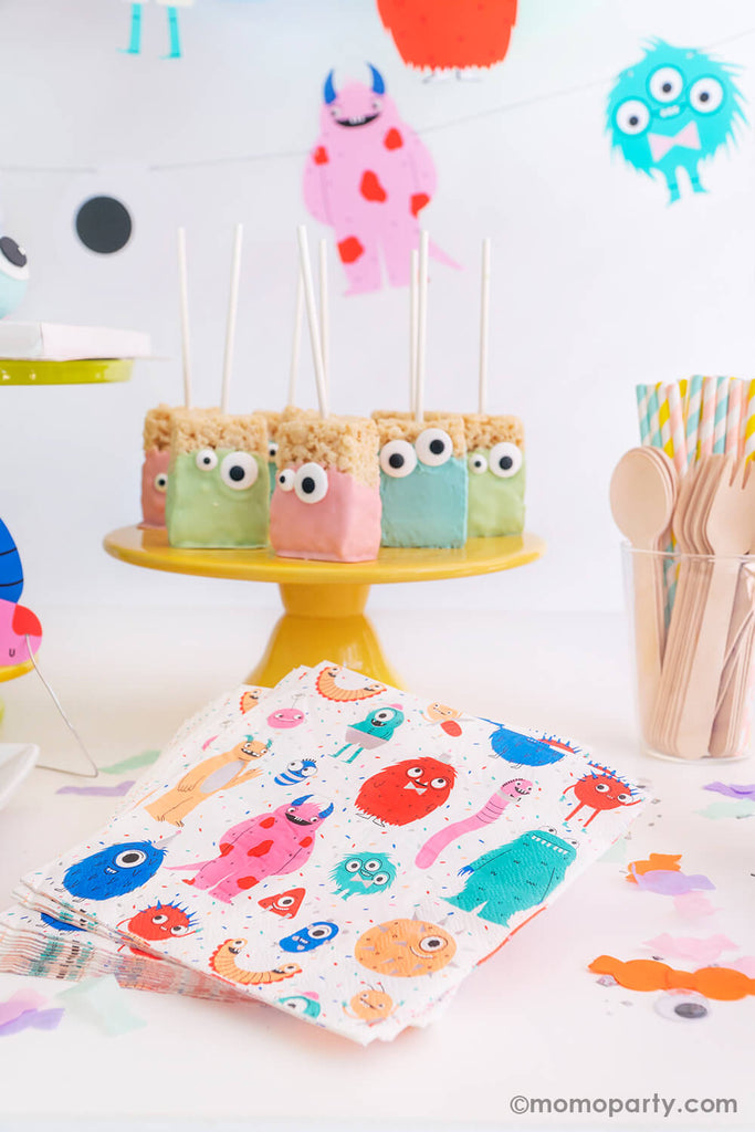 Halloween Little Monsters Birthday Party Snacks Ideas by Momo Party