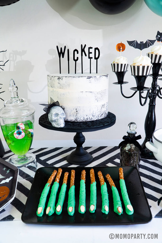 Halloween Party Snack Treat Ideas witch-finger-pretzels