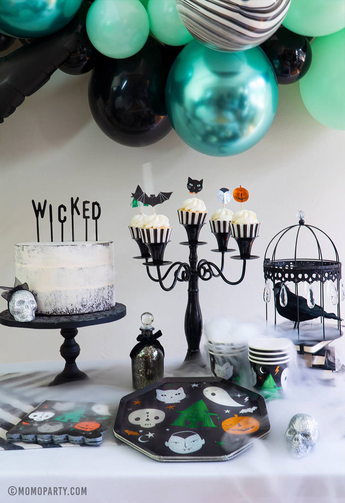 Kids Halloween Party Ideas Witch themed Party Set Up by Momo Party