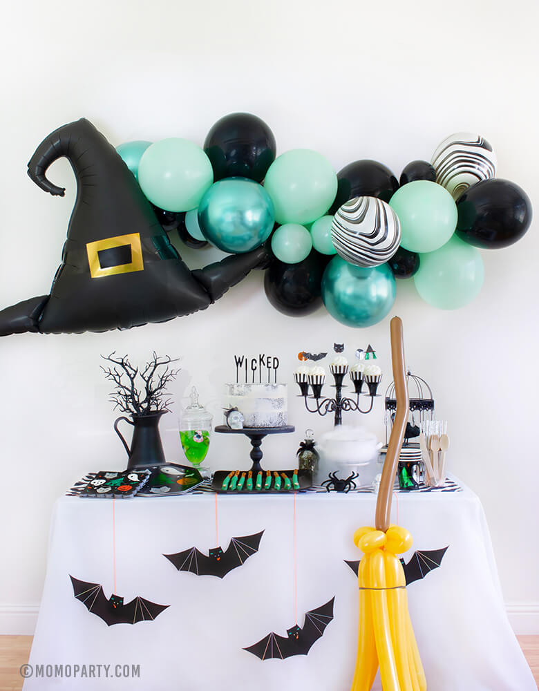 Kids Halloween Party Ideas at home Witch Please Party Look by Momo Party