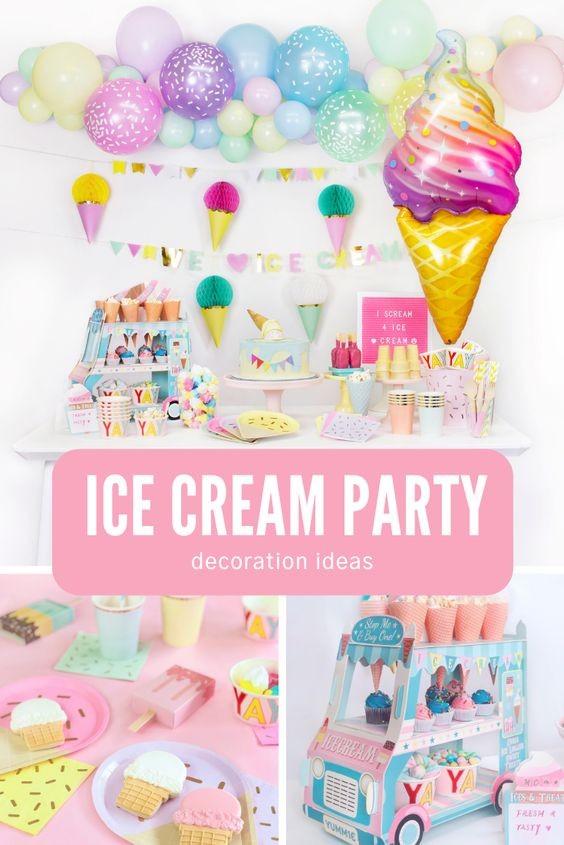 Summer Party Ideas - Ice Cream Themed Party