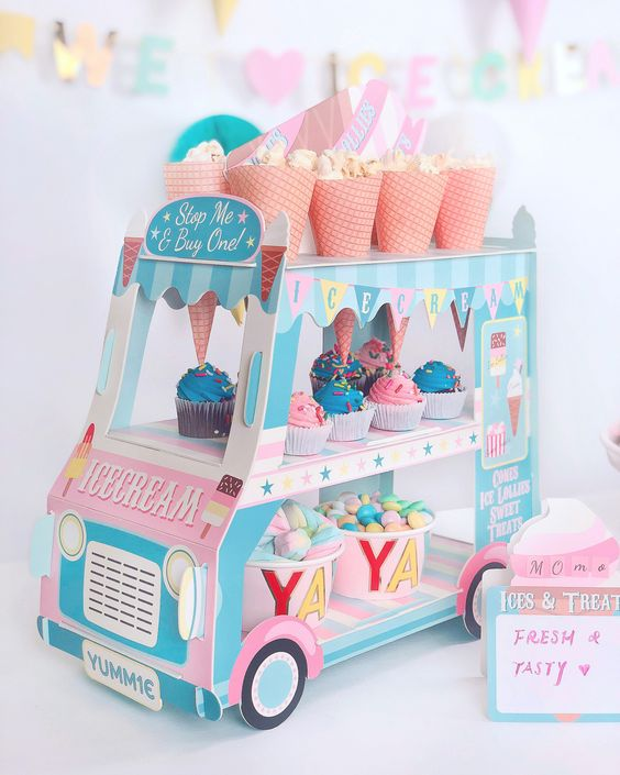 Ice Cream Truck for a Two Sweet Party