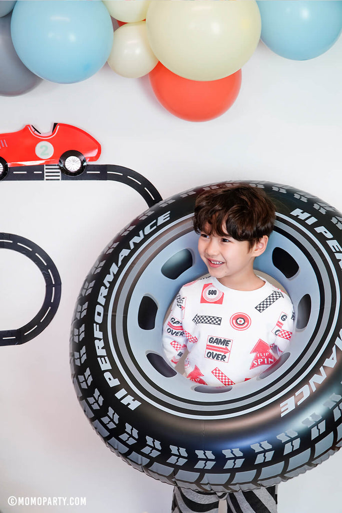 Kids Car Party Ideas_Inflatable-Giant-Tire-Tube by Momo Party copy