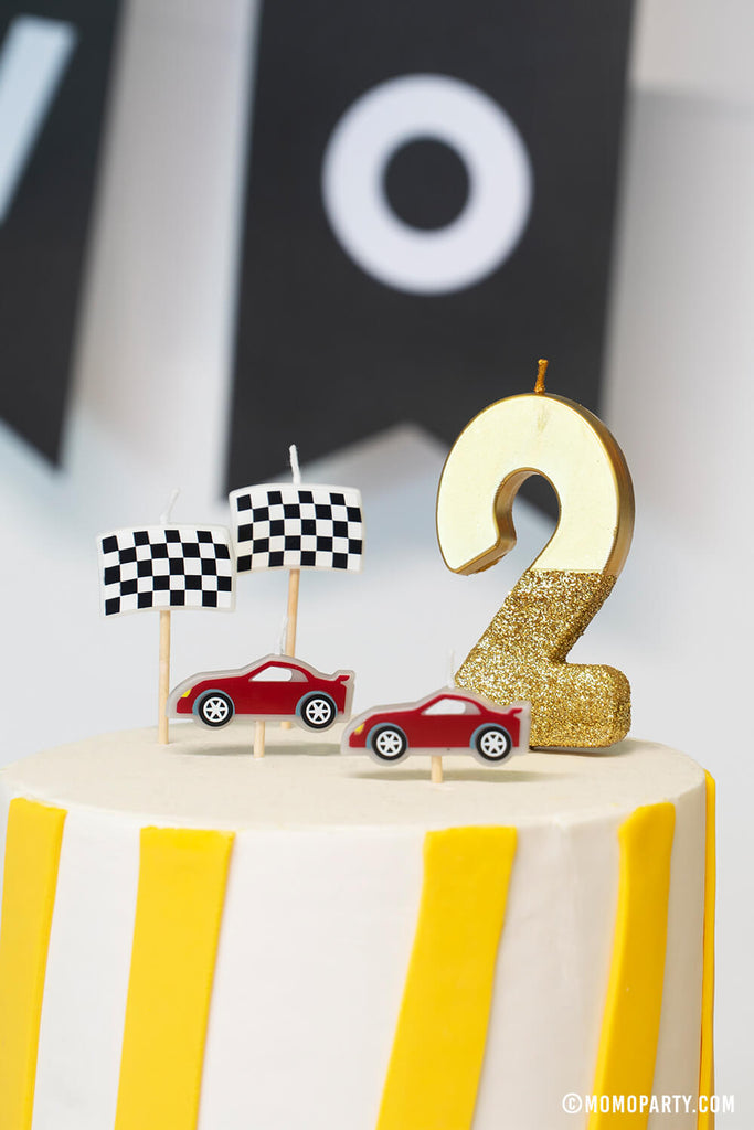 Kids Car Themed 2nd Birthday Party Birthday Candles
