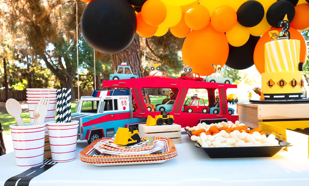Kids Construction Party Dessert Table