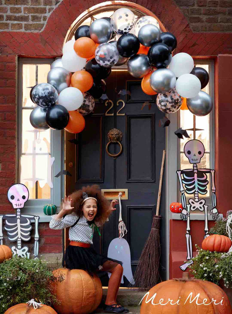 Kids Friendly Halloween Porch Decorations for a Trick or Treat Car Parade