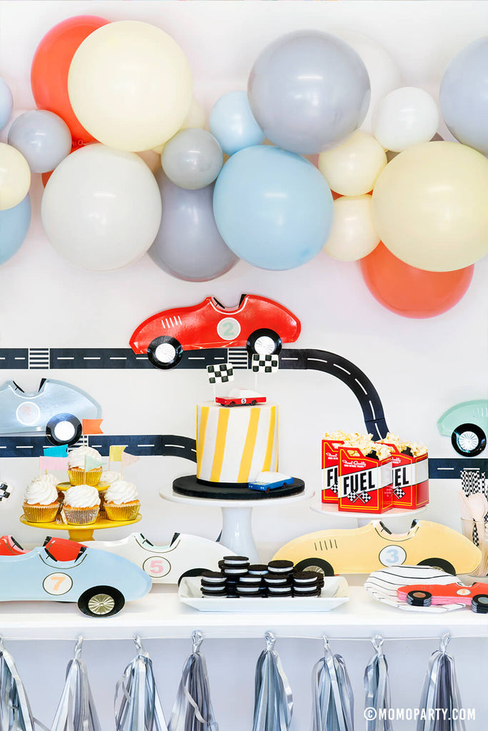 Kids Race Car Birthday Party Decoration Ideas by Momo Party