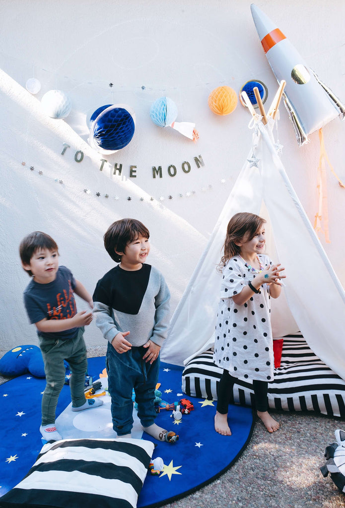 Kids Space Birthday Party Activity Play Area Tent Set Up