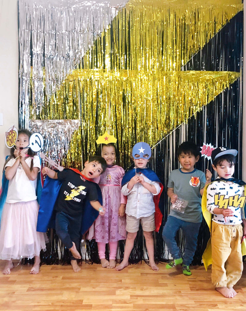 Lightning Bolt Inspired Superhero Party_Kids Photo Booth Ideas_Styled by Momo Party
