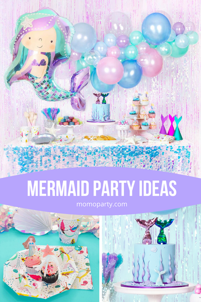 Summer Party Ideas - Mermaid Themed Party by Momo Party