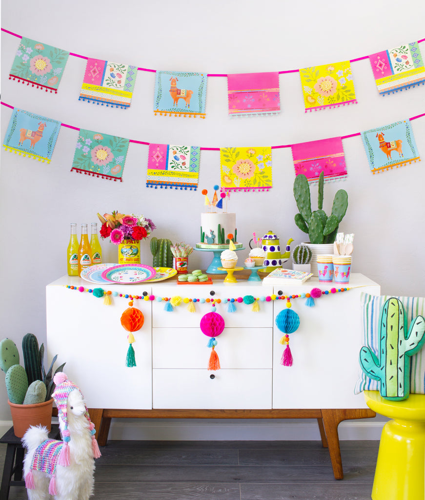 Stay at home Cinco de Mayo celebration ideas featuring Momo Party's Boho Fiesta Party Box