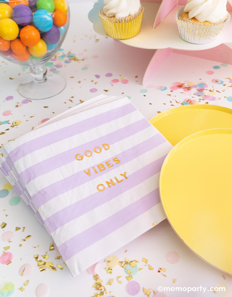 Good-Vibes_Napkins-for a Happy Day or Good Vibes themed celebration by Momo Party