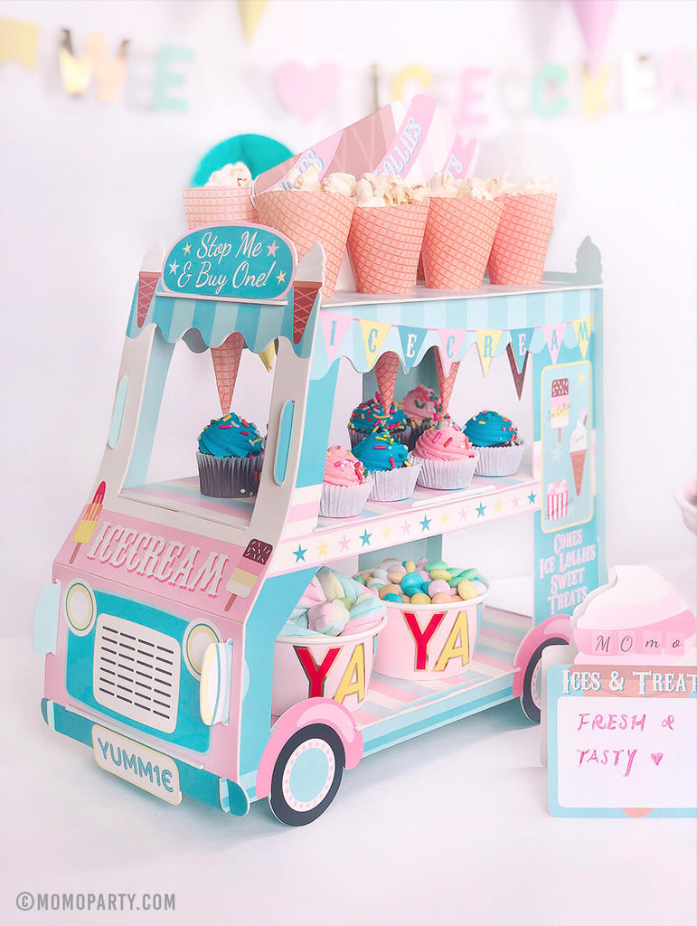 Summer Party Ideas by Momo Party - Ice Cream Truck Centerpiece for an Ice Cream Themed party