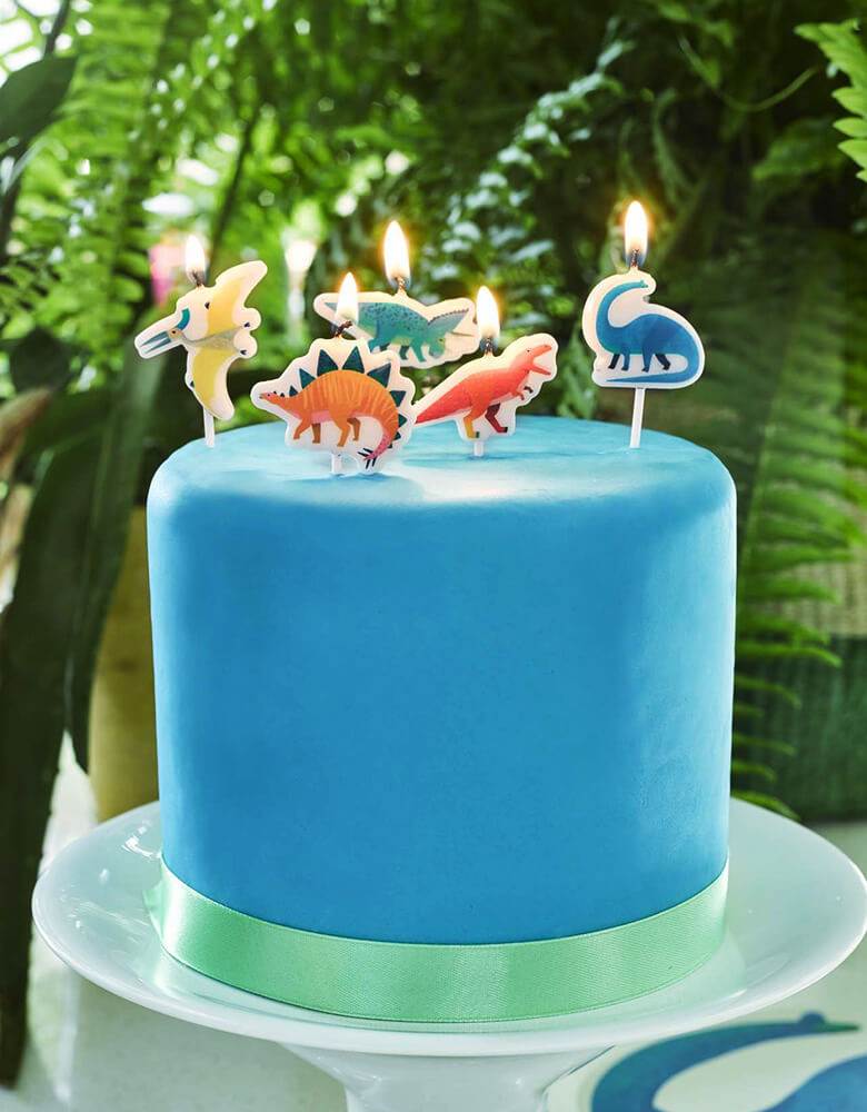 Party At home Dino_Dinosaur-Birthday-Candle-Set_on-cake