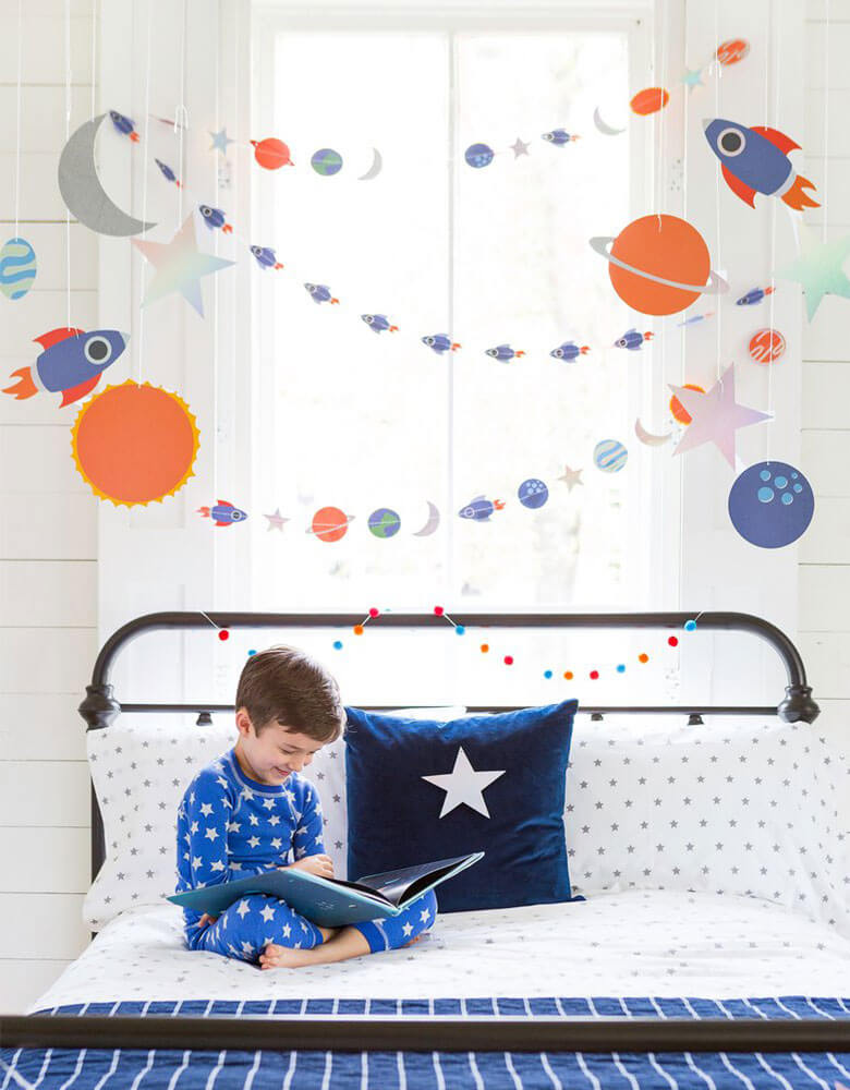 Space Decorations at Home Virtual Birthday Party Ideas