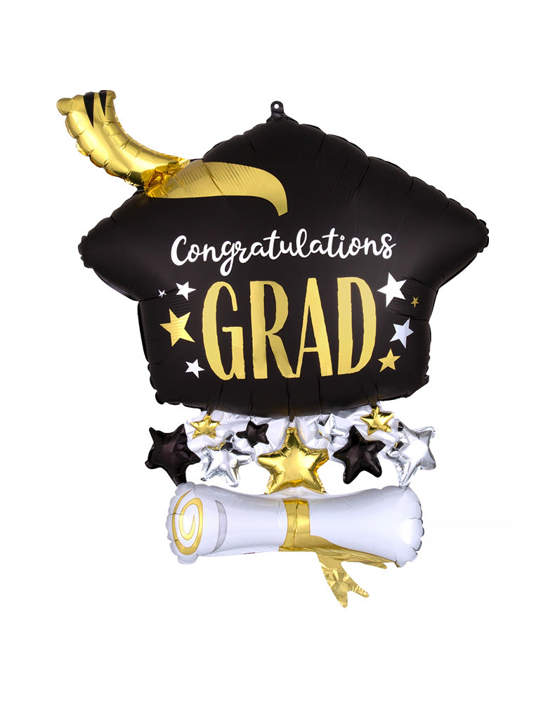Satin-Infused-Cap-and-Diploma for a drive-through graduation parade party during the lockdown