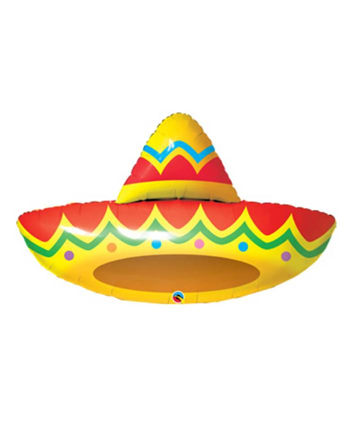 Cinco de Mayo Party Ideas Qualatex Sombrero Foil Mylar Balloon