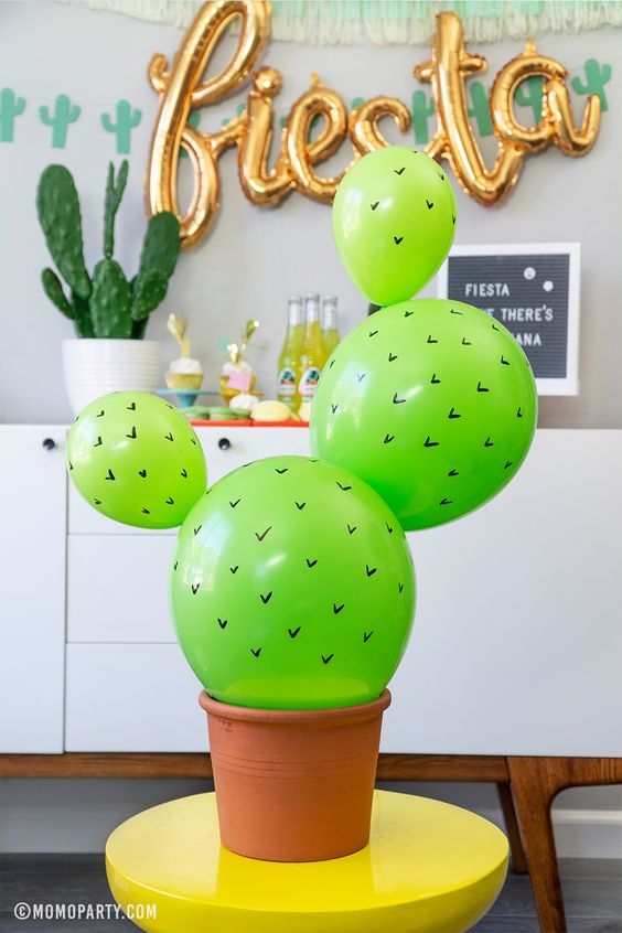 Taco Twosday 2nd Birthday Party Ideas Cactus Balloons