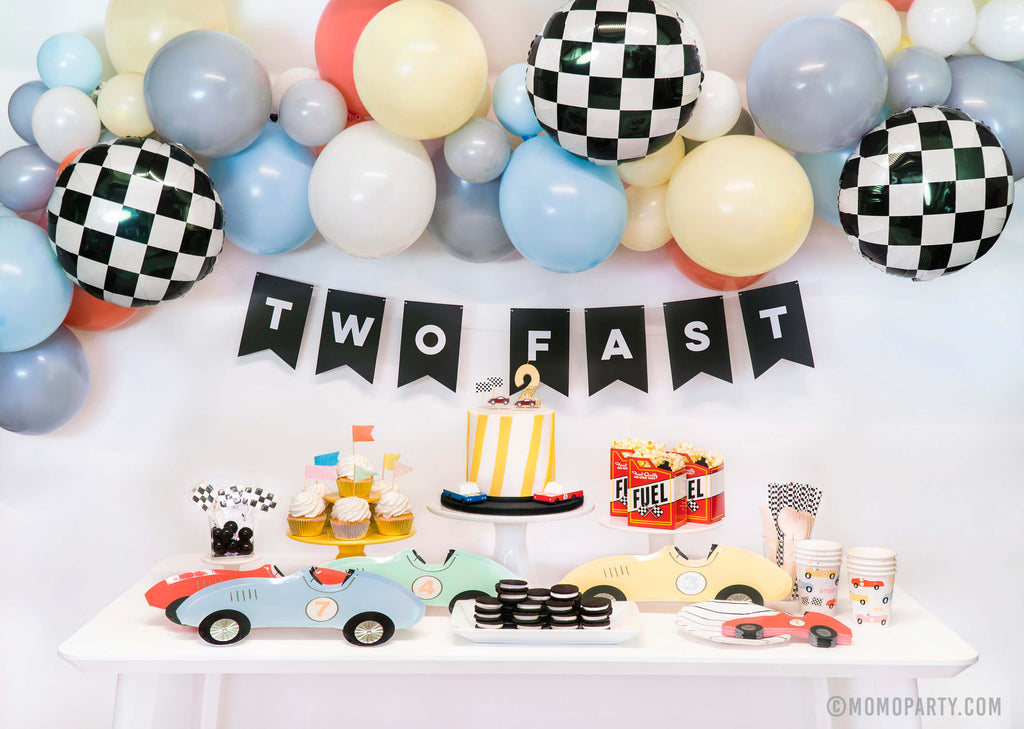 Two Fast Car Themed 2nd Birthday Ideas for Boys