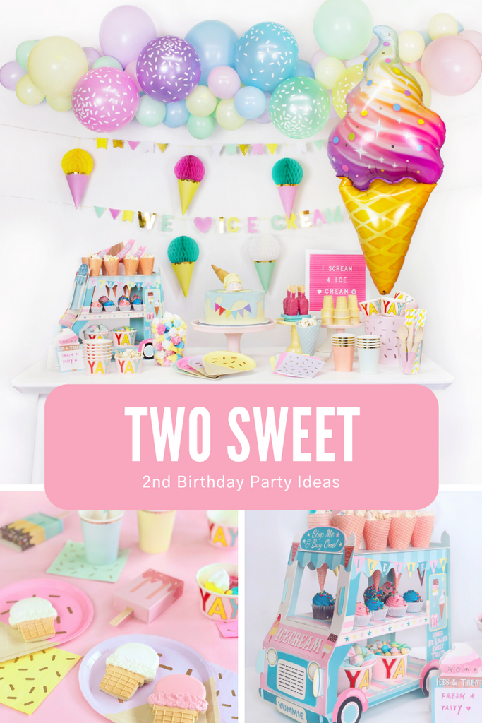 Two Sweet Girls 2nd Birthday Party Ideas