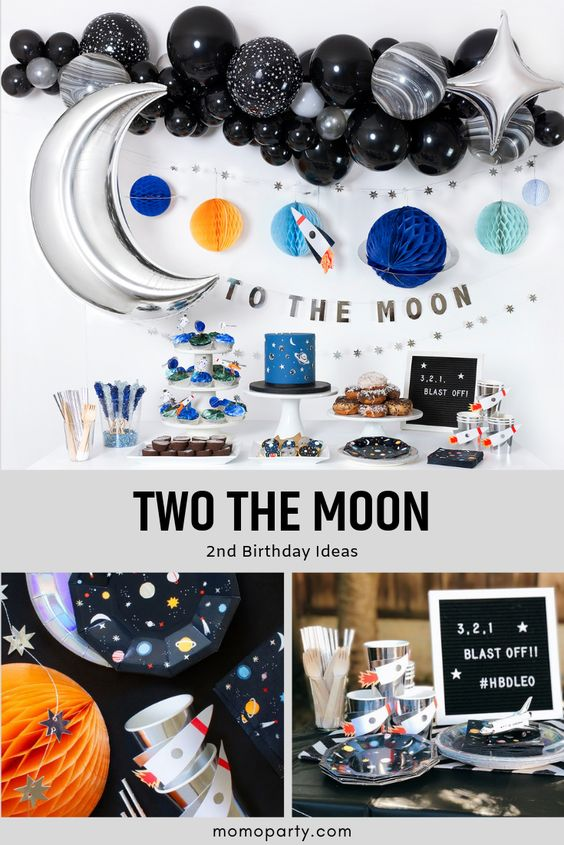 Two The Moon 2nd Birthday Party Ideas