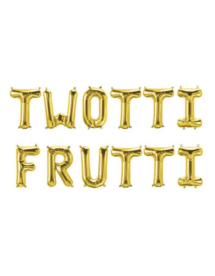 Twotti Frutti Foil Balloons for a 2nd Birthday Party