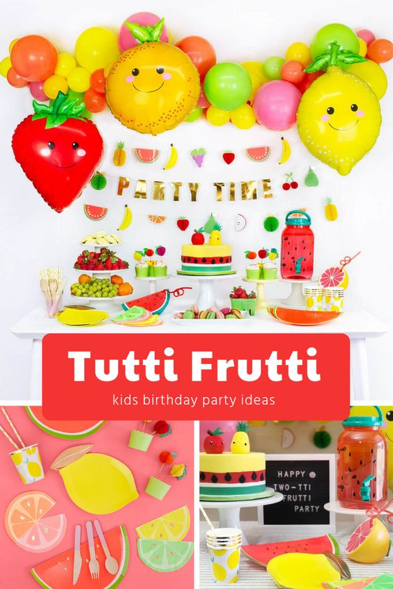 Twotti Frutti 2nd Birthday Party Ideas