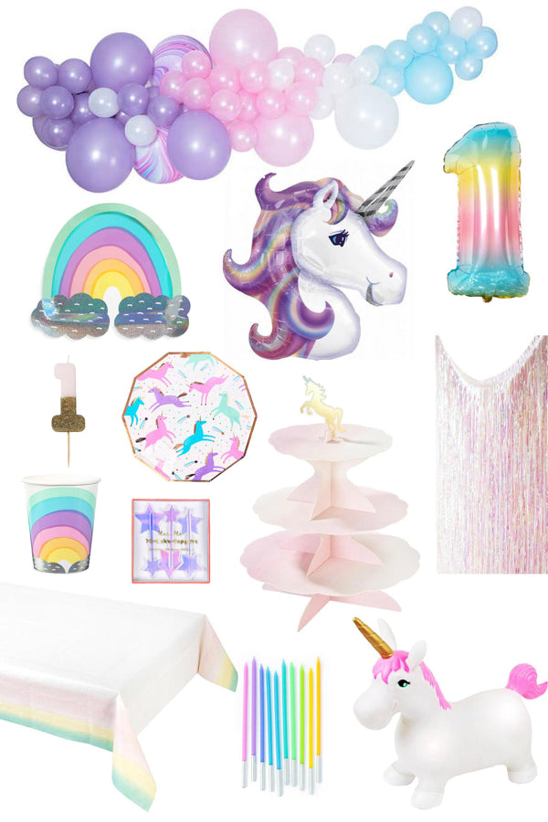 Unicorn Theme First Birthday