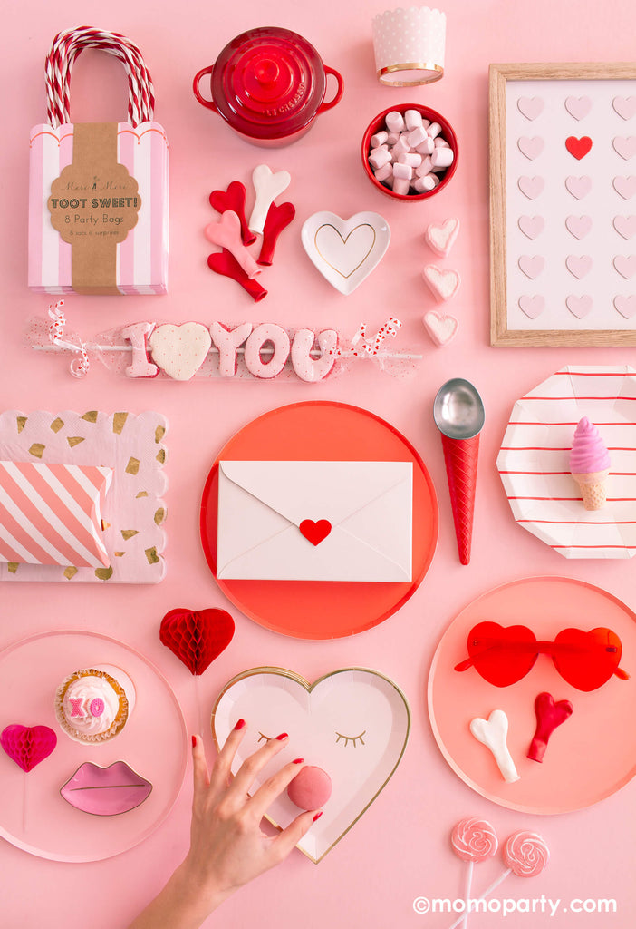 Valentine's Day Galentine's Day Ideas Flatlay Photo by Momo Party
