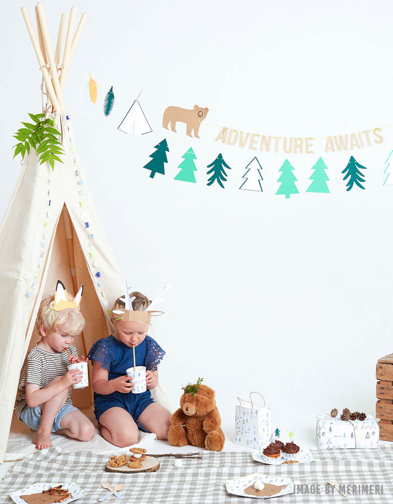 Summer Fun Woodland-Camping-Themed-Party-Ideas