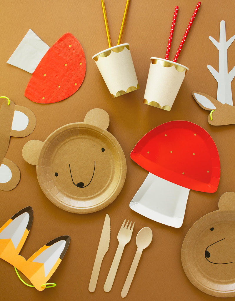 Woodland Themed Party Supplies for Kids Party in Fall