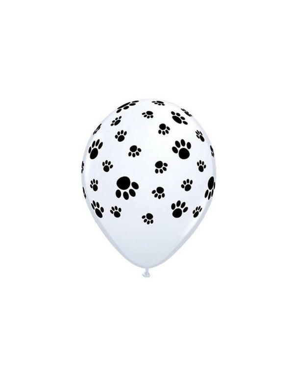 "Qualatex 11"" Paw prints foil balloon for a dog or cat themed party"