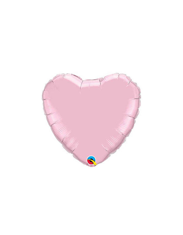 "Qualatex 18"" Junior Pastel Pink Heart Shaped Foil Balloon"