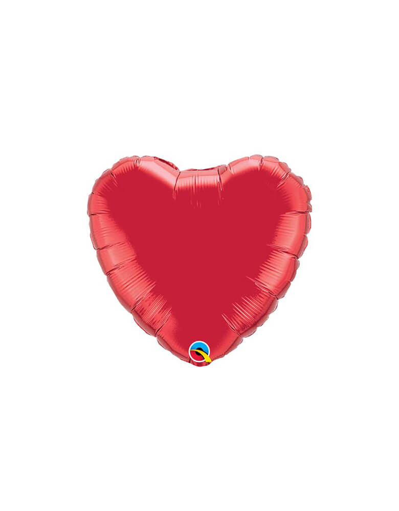"Qulatex 18"" Junior Rose Red Heart Shaped Foil Balloon"