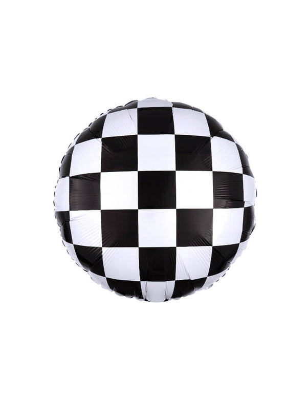 "Anagram 18"" Race Car Checkerboard Foil Mylar Balloon"