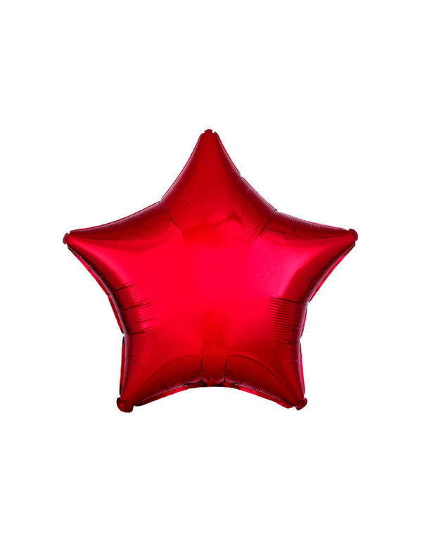 "Anagram Balloon - 30584 19"" Junior Metallic Red Star Shaped Foil Balloon"