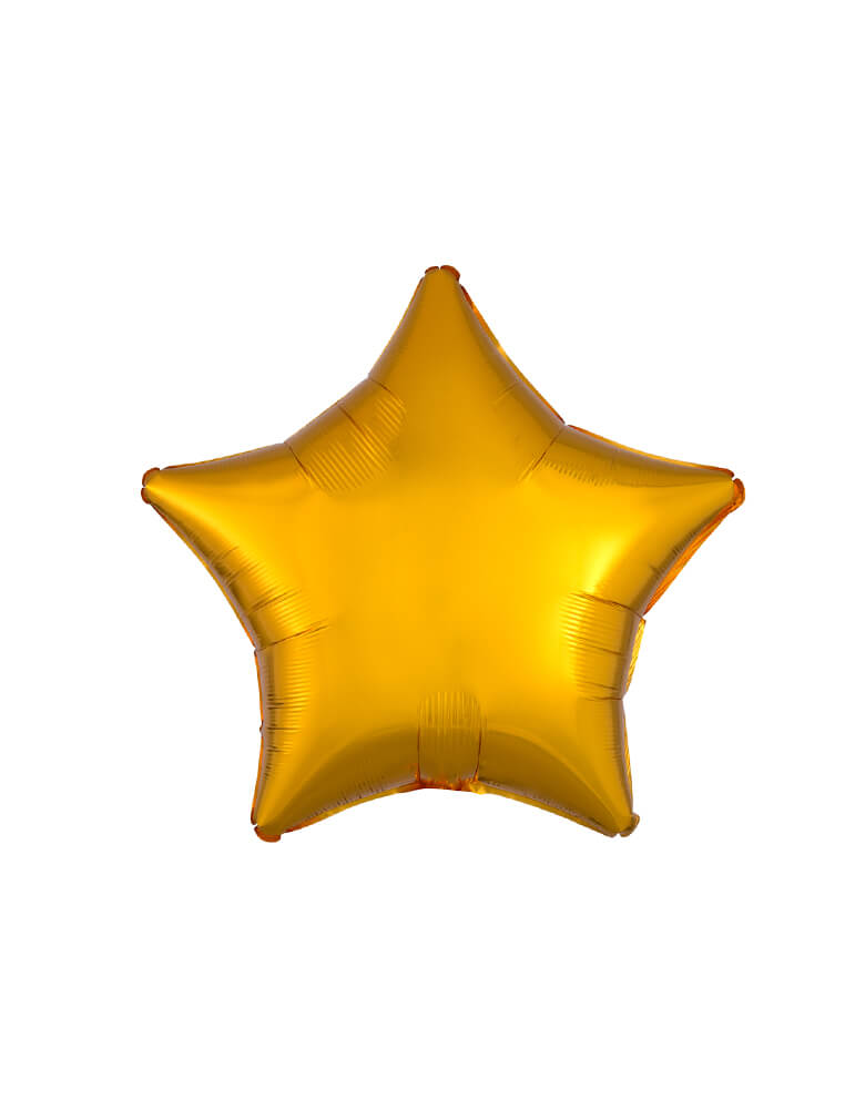 "Anagram Balloon - 30585 19"" Junior metallic gold Star Shaped Foil Balloon"