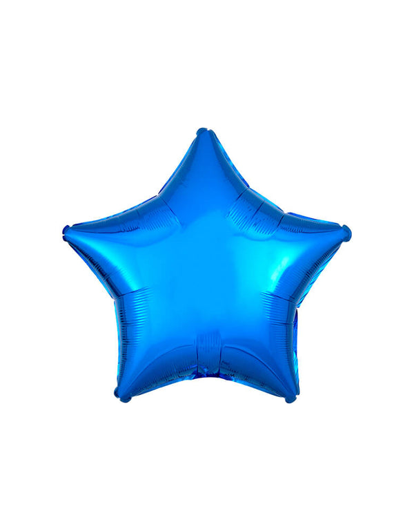 "Anagram Balloon - 30592 19"" Junior Metallic Blue Star Shaped Foil Balloon"