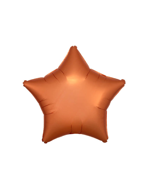 "Anagram Balloon - 38582 19"" Junior Satin Luxe amber Star Shaped Foil Balloon"