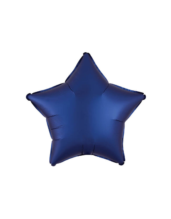 "Anagram Balloon - 39962 19"" Junior Satin Luxe Navy Star Shaped Foil Balloon"