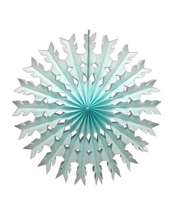 Devra Party 22 inch Tissue Paper Snowflake Decoration - Light Blue, Hand made in USA
