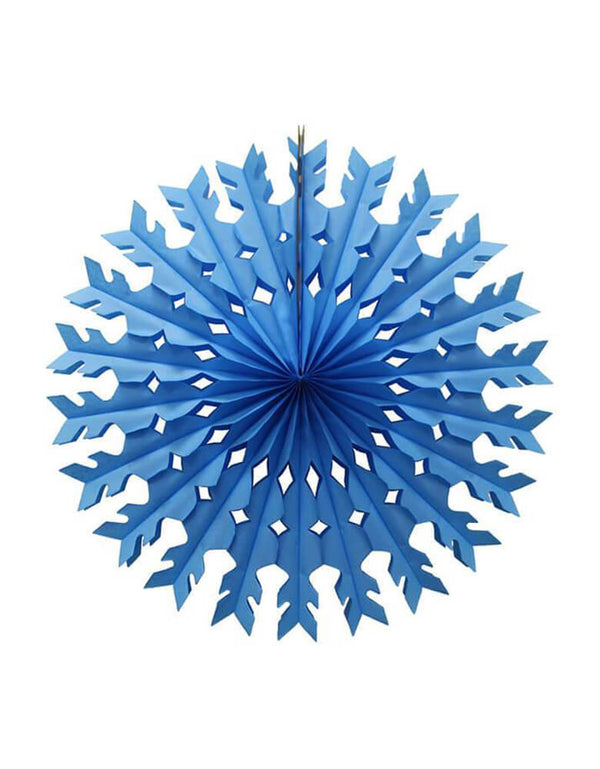 Devra Party - 22inch Tissue Paper Snowflake Decoration - Light Blue, Hand Made in the USA