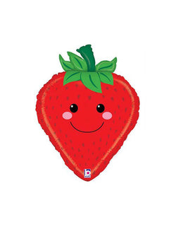 "26"" Strawberry Produce Pal Foil Mylar Balloon"