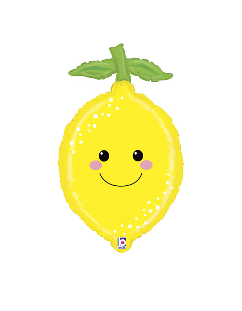 "29"" Lemon Produce Pal Foil Mylar Balloon"