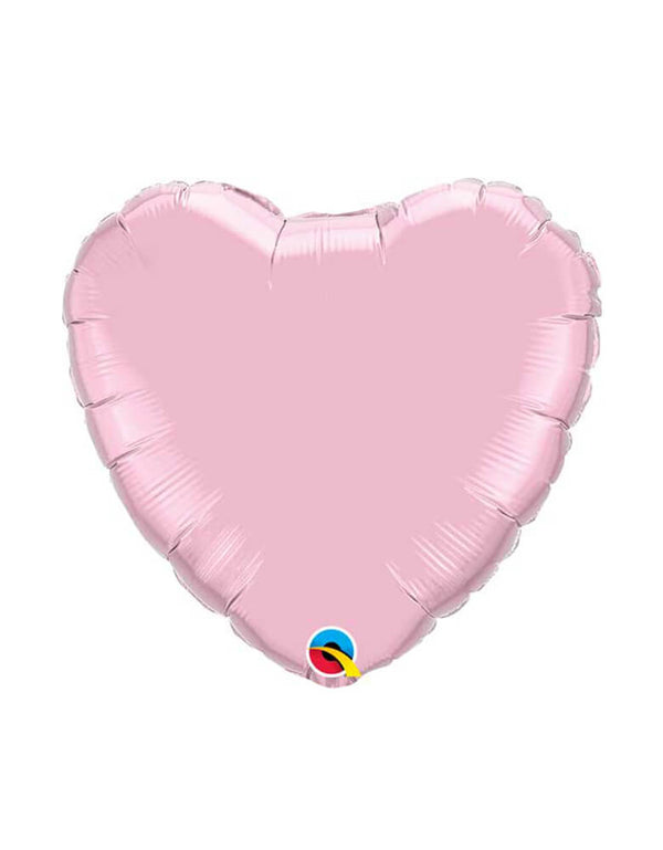 "Qualatex 36"" Jumbo Pastel Pink Heart Shaped Foil Balloon"