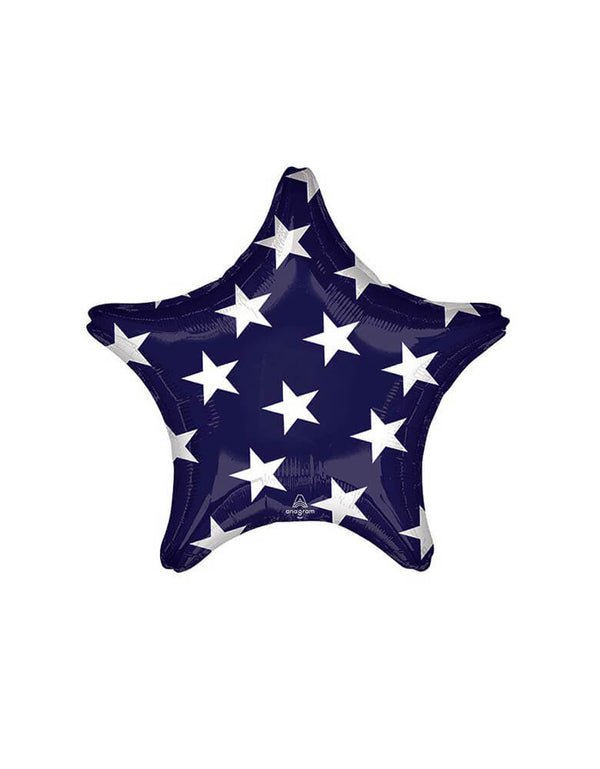 "Anagram 19"" Junior Stars & Stripes Star Shaped Foil Balloon_Front"