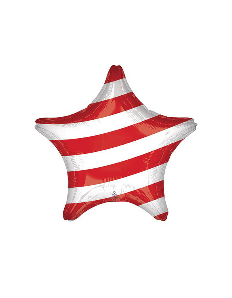 "Anagram 19"" Junior Stars & Stripes Star Shaped Foil Balloon_Back"