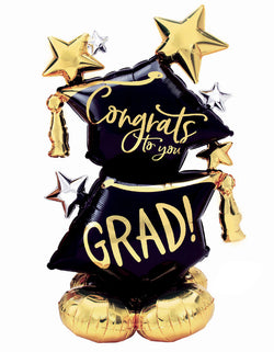 "Anagram Balloons - 4225 Airloonz Congrats To You Grad Foil Mylar Balloon. Accent your graduation party with this giant foil mylar balloon! This Congrats to You Grad AirLoonz balloon stands 51"" high when fully inflated and is designed to be inflated with air only."