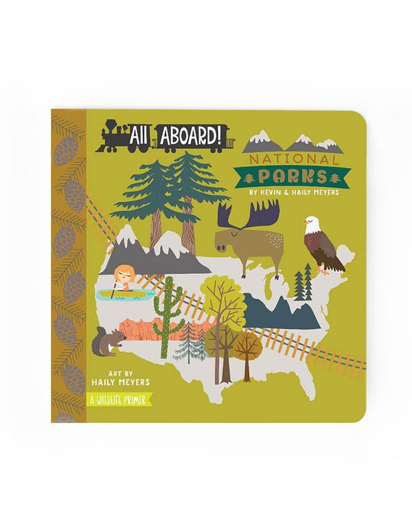 All Aboard! National Parks: A Wildlife Primer Board book – Picture Book by Lucy Darling. Travel with your munchkin through the National Parks with this Wildlife Primer! Explore the nation's marvelous national parks from Acadia to Yosemite, and the Grand Canyon to the Grand Tetons. This new board book series written by the husband and wife team of Haily and Kevin Meyers and illustrated by Haily, celebrates the unique qualities of each city while employing a fun primer element to tell the story.