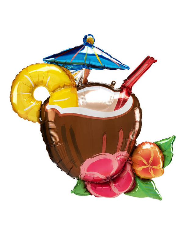 "Anagram 30"" Coconut-pina-colada SuperShape XL Balloon"